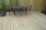 Softwood decking giving a clean contemporary line