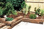 Railway sleepers with bamboo backing